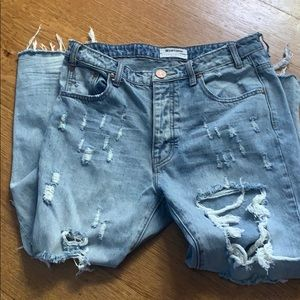 One Teaspoon destroyed relaxed straight jeans